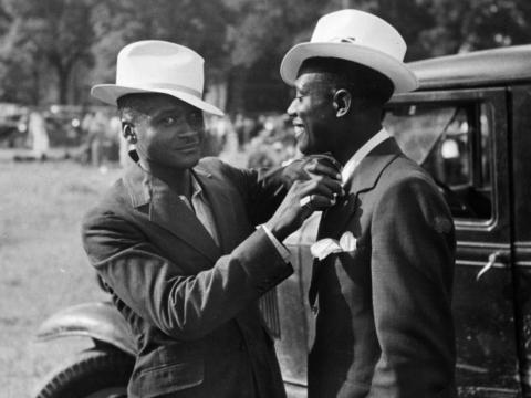 "And don't forget hats. Hats were a must for men on the go. ""Regardless of what he wore, a properly dressed man in the 1950s still had to don a hat,"" William H. Young and Nancy K. Young wrote in the book ""The 1950s."""