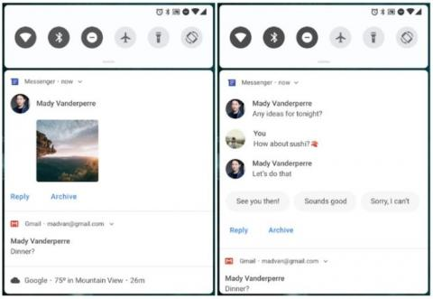 Android P respuestas inteligentes