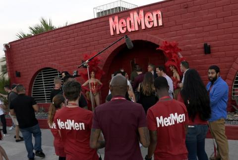 La apertura de la primera tienda MedMen en Las Vegas, en julio de 2018.