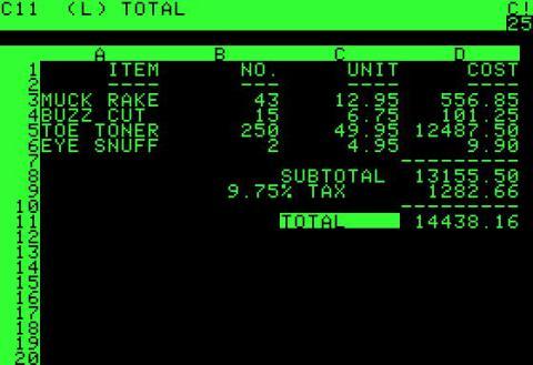La revolucionaria aplicación del Apple II se llamaba VisiCalc, un innovador software de hoja de cálculo que impulsó la computadora por delante de los líderes del mercado, Tandy y Commodore. Con VisiCalc, Apple podía vender Apple II al cliente comercial.