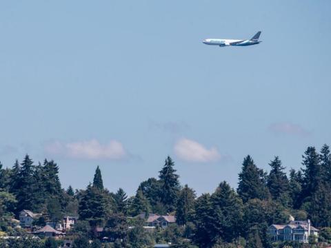 Boeing con una variante del futuro B777X compiten por ser el elegido, en la imagen se ve una versión similar, un Boeing 767.