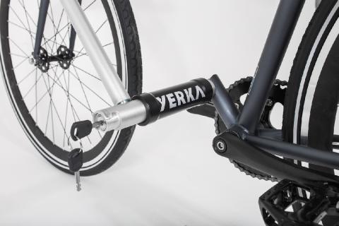 Además, el sistema consta de llave —vienen dos con la bicicleta—.