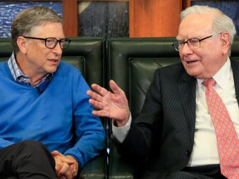 Bill Gates y Warren Buffett.