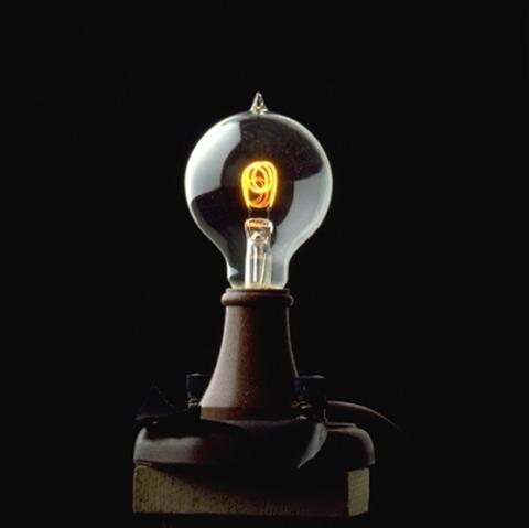 Una de las bombillas que fabricaba Corning.