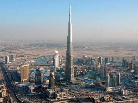The Burj Khalifa in Dubai cost approximately $1.5 billion to build. Construction lasted from 2004 to 2009.