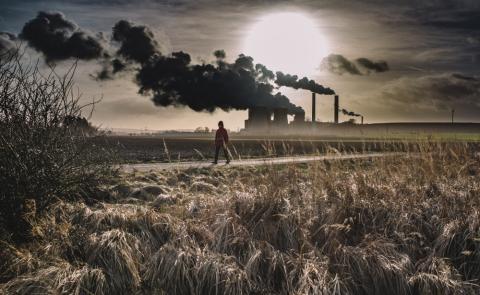 calentamiento global, fábrica