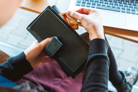 Cartera, tarjeta de crédito, pago