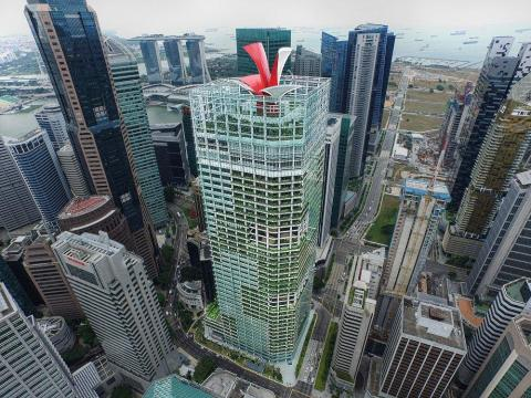 Completed in 2014, Singapore's CapitaGreen tower cost an estimated $1.4 billion.