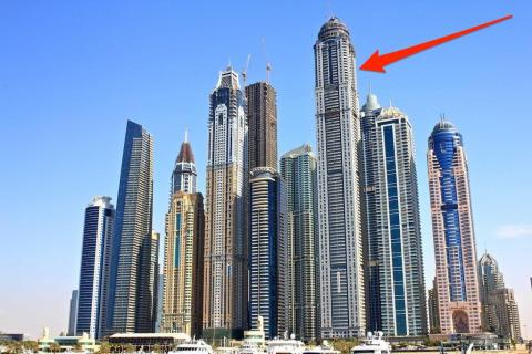 Constructed in Dubai in 2012, the $2.17 billion Princess Tower houses shops and 763 luxury condos.