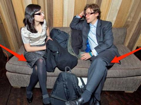 Crossed legs are usually a sign of resistance and low receptivity, and are a bad sign in a negotiation