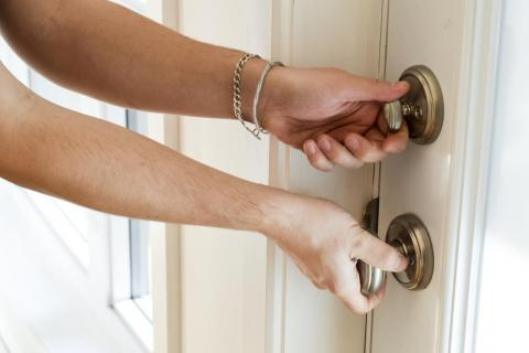 Doorknobs can be vessels for germs. Wipe the ones in your house down once every week or two.