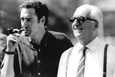 Enzo Ferrari, right.