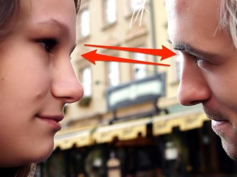 Eye contact shows interest — both positive and negative