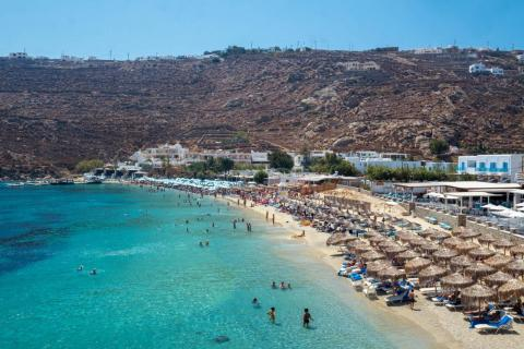 If there's one thing Mykonos had no shortage of, it was gorgeous beaches and calm, blue-green waters. My only knock is that most of the best beaches were dominated by beach clubs.