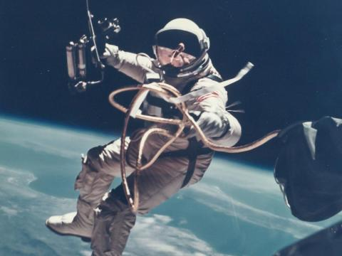 The Gemini missions of the 1960s were the first time NASA attempted to deal with poop in space. The first devices made for this purpose were just bags that got taped to astronauts' butts.