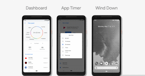 Google Dashboard Android P