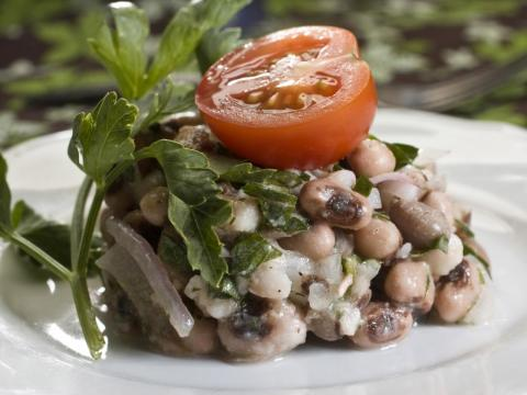 Hearty enough for a main dish or served as a side, this bean salad is packed with fiber, protein, and other plant-based nutrients.