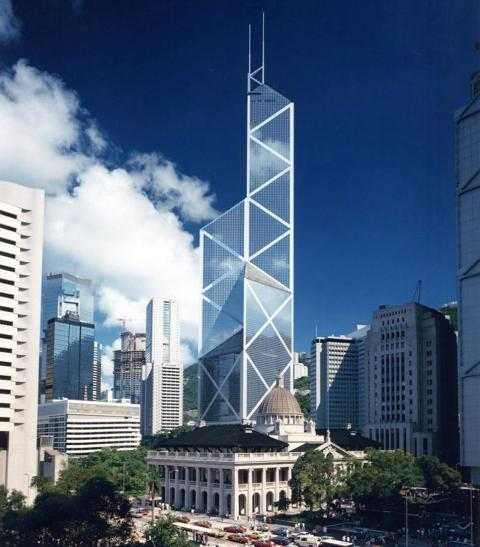 In Hong Kong, the Bank of China completed its 1,204-foot-tall headquarters in 1990.