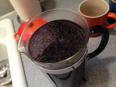 The inside of a coffee pot is dark and damp, which makes it a great place for germs to grow. Clean it out once a month.