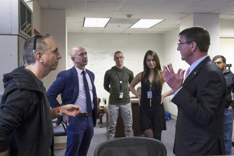 Jeff Bezos en una reunión