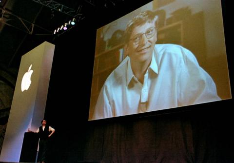 On July 4, 1997, Jobs persuaded Apple's board to oust Amelio and make Jobs the interim, and then permanent, CEO. In August 1997, Jobs took the stage at another Macworld Expo to announce that Apple had taken a $150 million
