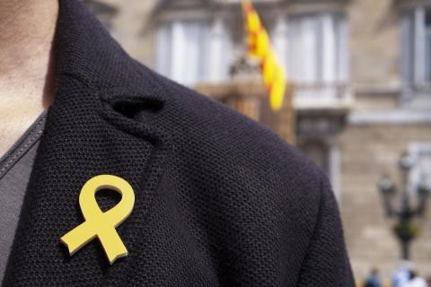 Lazo amarillo en Barcelona