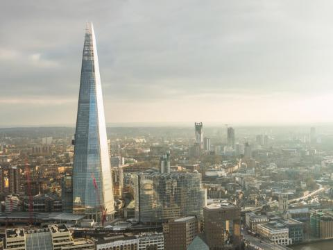 London's glass Shard, completed in 2012 for $1.5 billion, is a 95-story skyscraper.