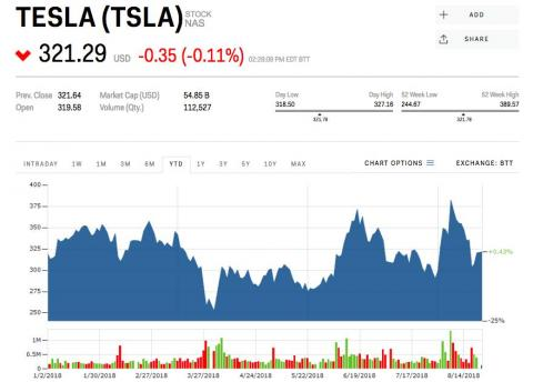 A major Tesla investor is urging Elon Musk not to take the company private because it could be worth $4,000 a share