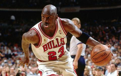 Michael Jordan, con los Chicago Bulls