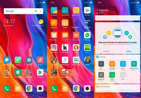 MIUI en el Xiaomi Mi 8