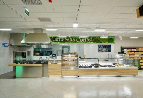 El mostrador Listo para comer, la nueva sección que Mercadona ha instalado en uno de sus supermercados.