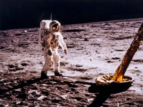 """NASA also developed a """"fecal containment system"""" for Apollo astronauts to use when outside the spacecraft. The system consisted of """"a pair of undershorts with layers of absorbent material."""""""