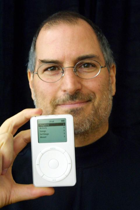 "In October, Jobs' Apple would take its first steps beyond the Mac with the iPod, a digital music player that promised ""1,000 songs in your pocket."" The iPod actually got off to a slow start, largely because it started at a pricey"