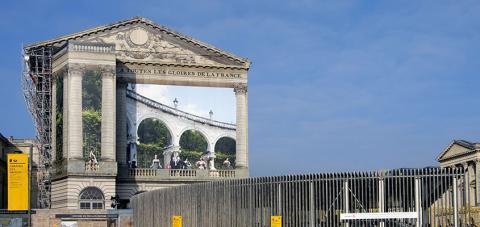 El pabellón Dufour, en el Palacio de Versalles, Versalles, Francia.