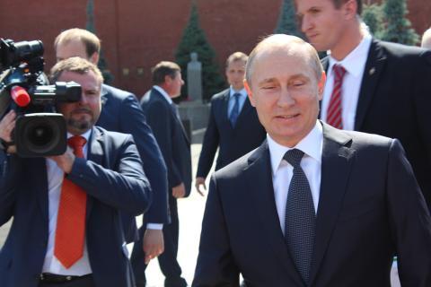 Periodista mirada asesina a Putin