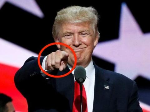 A pointed finger with a closed hand is an attempt at displaying dominance
