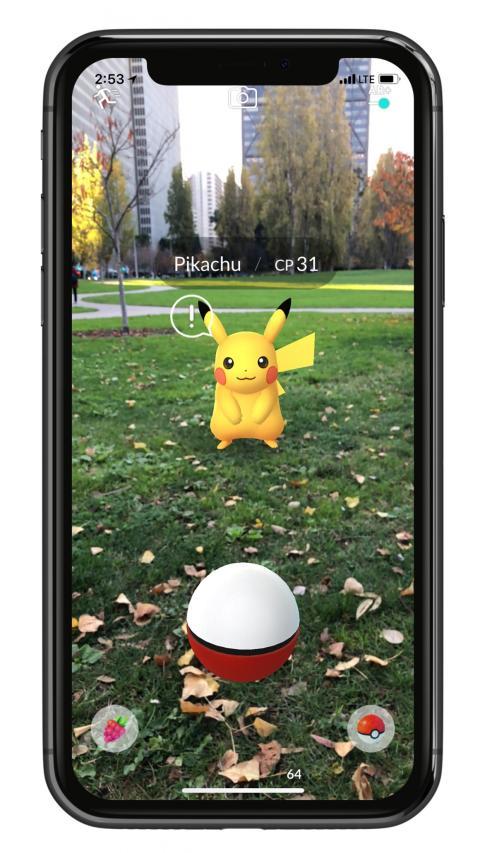 Pokemon Go usa el ARKit de Apple.