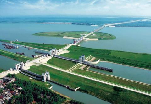 Proyecto de contención de las inundaciones de Linhuaigang, en China.