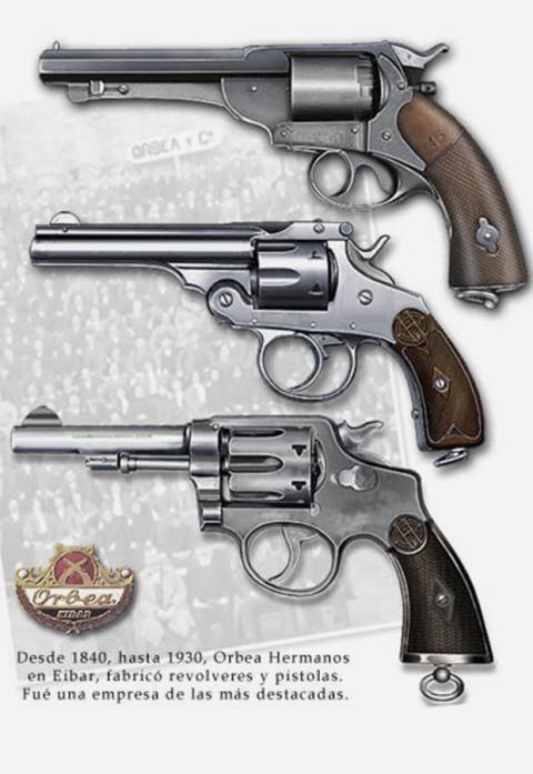 Revólveres de Orbea.