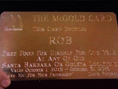Rob Lowe's Gold Card.