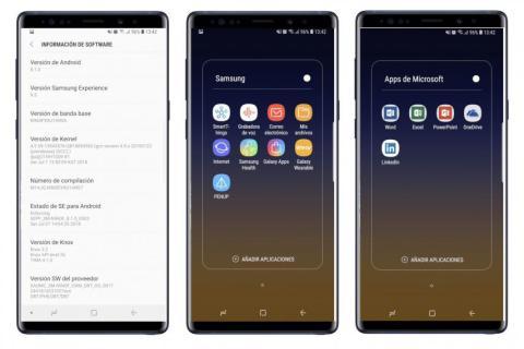 Samsung Galaxy Note 9 software