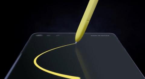 Captura de pantalla de vídeo filtrado del Samsung Galaxy Note 9