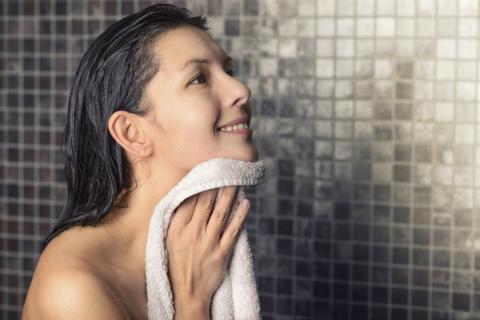 Secarse piel toalla