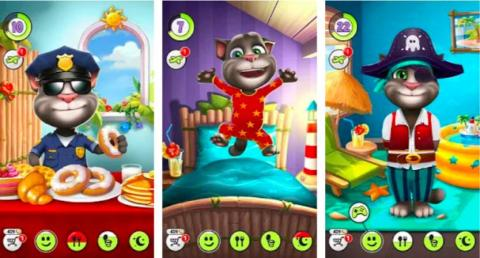 "In second place for the most hours played is ""My Talking Tom,"" a virtual pet game that iPhone and Android users have played for a whopping combined 3.42 billion hours."