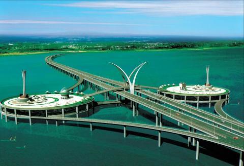 El Segundo Puente de Penang, en Malasia, en cuya construcción participó China Communications Construction Company.