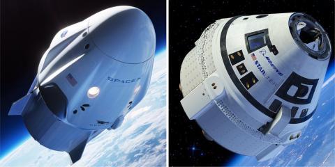 El Crew Dragon de Space X y el CST-100 Starliner de Boeing pueden llevar a siete personas [RE]