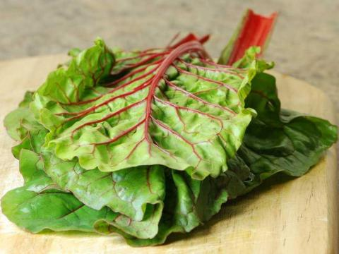 Swiss chard is rich in iron and magnesium.