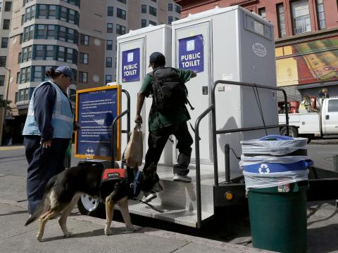There aren't enough public bathrooms in San Francisco to accommodate the city's homeless population.