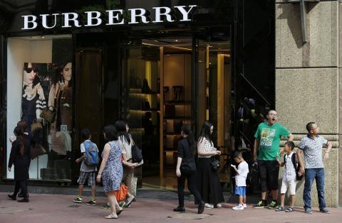 Una tienda de Burberry en Causeway Bay, Hong Kong, China, el 16 de julio de 2015.