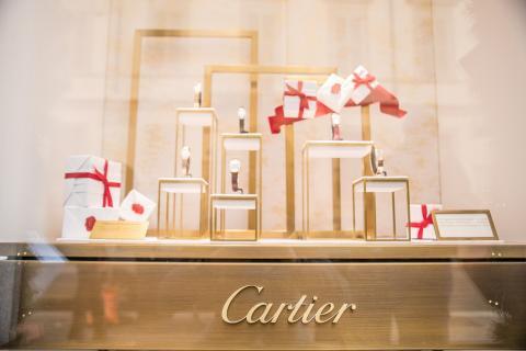 Escaparate de un local de Cartier en Milán, Italia, el 30 de diciembre de 2014.